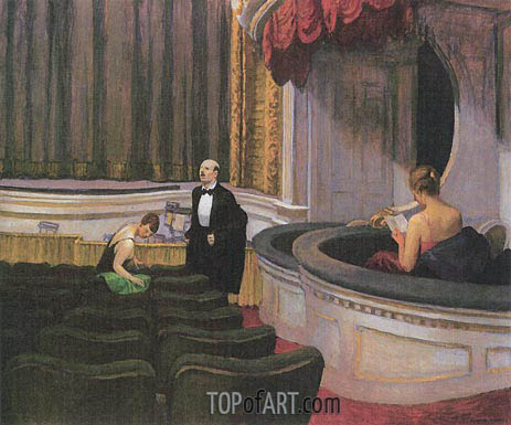 Two on the Aisle, 1927 | Hopper | Painting Reproduction