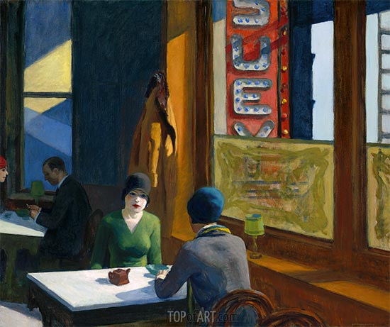 Chop Suey, 1929 | Hopper | Painting Reproduction