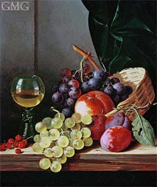 Grapes and Plums | Edward Ladell | Painting Reproduction