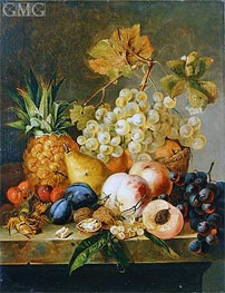 Still Life with Fruit, undated von Edward Ladell | Gemälde-Reproduktion