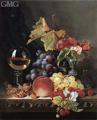 Still Life with a Wine Goblet and Silver Tazza, undated | Edward Ladell | Painting Reproduction