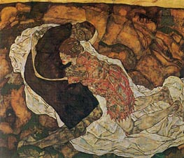 Death and the Maiden, 1915 von Schiele | Gemälde-Reproduktion