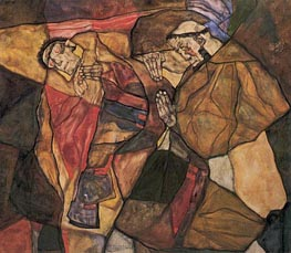 Agony, 1912 by Schiele | Painting Reproduction
