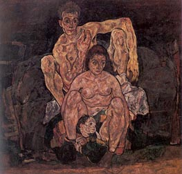 The Family, 1918 by Schiele | Painting Reproduction