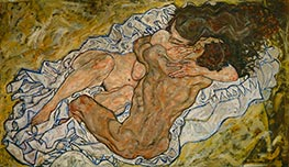 The Embrace, 1917 by Schiele | Painting Reproduction