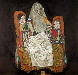Mother with Two Children, c.1915/17 by Schiele | Painting Reproduction