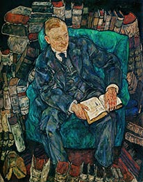 Dr. Hugo Koller, 1918 by Schiele | Painting Reproduction
