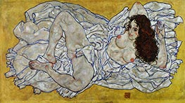 Reclining Woman, 1917 by Schiele | Painting Reproduction