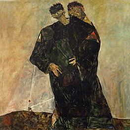 The Hermits, 1912 by Schiele | Painting Reproduction