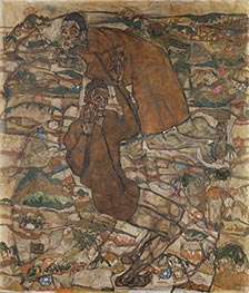 Levitation (The Blind II), 1915 by Schiele | Painting Reproduction