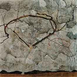 Autumn Tree in Stirred Air (Winter Tree) | Schiele | Painting Reproduction