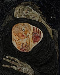 Dead Mother I, 1910 by Schiele | Painting Reproduction