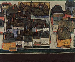 The Small City IV, 1914 by Schiele | Painting Reproduction