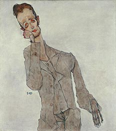 Portrait of Painter Karl Zakovsek, 1910 by Schiele | Painting Reproduction