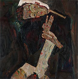 The Poet (Self-Portrait), 1911 by Schiele | Painting Reproduction