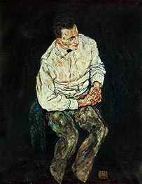 Portrait of Karl Gruenwald, 1917 by Schiele | Painting Reproduction