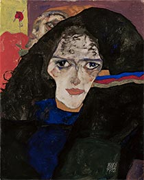 Mourning Woman | Schiele | Painting Reproduction