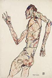 The Dancer, 1913 by Schiele | Painting Reproduction