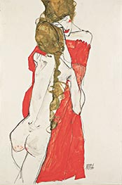 Mother and Daughter, 1913 by Schiele | Painting Reproduction