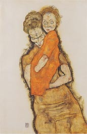 Mother and Child | Schiele | Painting Reproduction