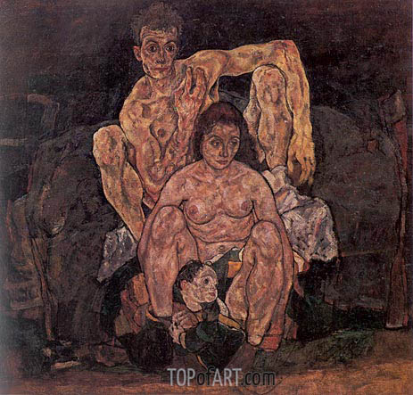 The Family, 1918   Schiele   Painting Reproduction