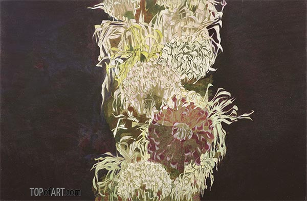 Chrysanthemums, 1910 | Schiele | Painting Reproduction