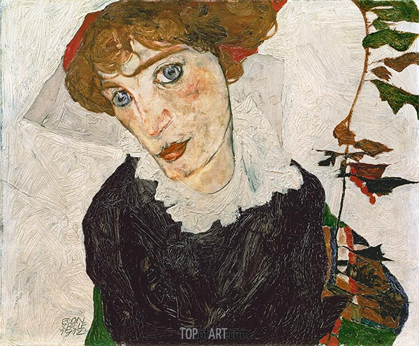 Portrait of Wally, 1912 | Schiele | Painting Reproduction