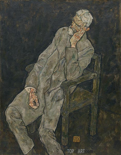 Portrait of Johann Harms, 1916 | Schiele | Painting Reproduction