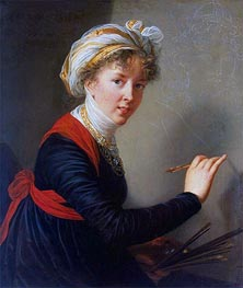 Self-Portrait, 1800 by Elisabeth-Louise Vigee Le Brun | Painting Reproduction