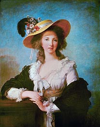 Portrait of Yolande de Polastron, Duchess of Polignac, 1782 by Elisabeth-Louise Vigee Le Brun | Painting Reproduction