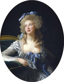 Madame Grand (Catherine Noele Worlee), Later Madame Talleyrand-Perigord, Princesse de Benevent, 1783 by Elisabeth-Louise Vigee Le Brun | Painting Reproduction