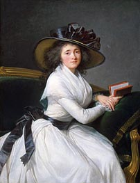 Comtesse de la Chatre (Marie Louise Perrette Aglae Bontemps), Later Marquise de Jaucourt, 1789 by Elisabeth-Louise Vigee Le Brun | Painting Reproduction