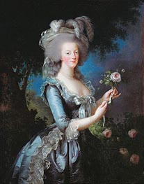 Marie Antoinette with a Rose, 1783 by Elisabeth-Louise Vigee Le Brun | Painting Reproduction