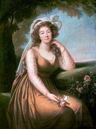 Comtesse du Barry Holding a Rose, 1778 by Elisabeth-Louise Vigee Le Brun | Painting Reproduction