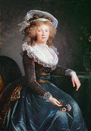 Maria Theresa of Bourbon, undated by Elisabeth-Louise Vigee Le Brun | Painting Reproduction