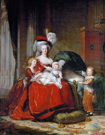 Marie-Antoinette and her Children, 1787 by Elisabeth-Louise Vigee Le Brun | Painting Reproduction