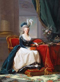 Queen Marie-Antoinette, 1788 by Elisabeth-Louise Vigee Le Brun | Painting Reproduction