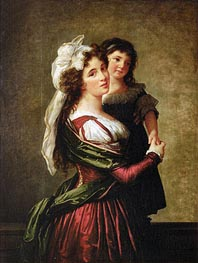Madame Rousseau and her Daughter, 1789 by Elisabeth-Louise Vigee Le Brun | Painting Reproduction