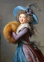 Madame Mole-Raymond | Elisabeth-Louise Vigee Le Brun | Painting Reproduction