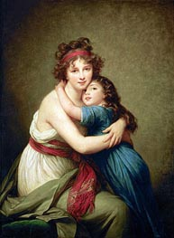Madame Vigee-Lebrun and her Daughter Jeanne-Lucie-Louise | Elisabeth-Louise Vigee Le Brun | Painting Reproduction