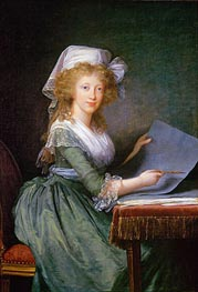 Mary Louise of Bourbon-Sicily, Grand Duchess of Tuscany, 1790 von Elisabeth-Louise Vigee Le Brun | Gemälde-Reproduktion