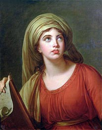 Portrait of Emma Hart, later Lady Hamilton, as a Sibyl | Elisabeth-Louise Vigee Le Brun | Gemälde Reproduktion