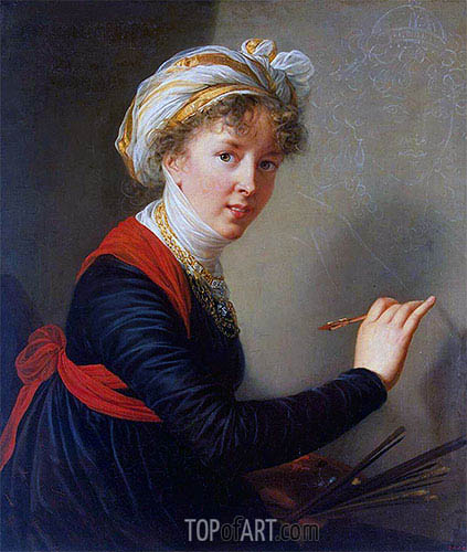 Self-Portrait, 1800 | Elisabeth-Louise Vigee Le Brun | Painting Reproduction