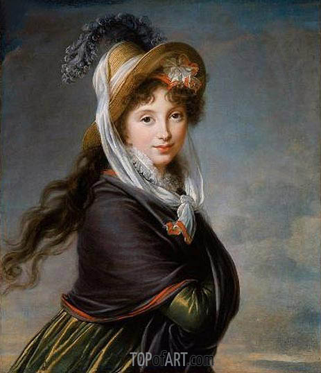 Portrait of a Young Woman (Countess Worontzoff), c.1797 | Elisabeth-Louise Vigee Le Brun | Painting Reproduction