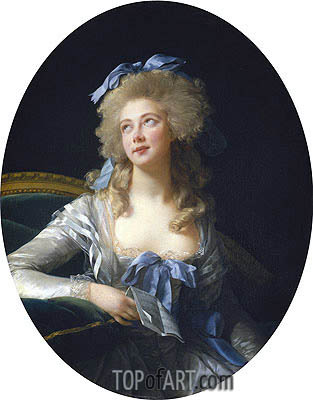 Madame Grand (Catherine Noele Worlee), Later Madame Talleyrand-Perigord, Princesse de Benevent, 1783 | Elisabeth-Louise Vigee Le Brun | Painting Reproduction