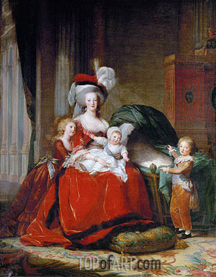 Marie-Antoinette and her Children, 1787 | Elisabeth-Louise Vigee Le Brun | Painting Reproduction