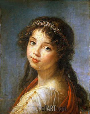 Portrait of the Artist's Daughter, undated | Elisabeth-Louise Vigee Le Brun | Painting Reproduction