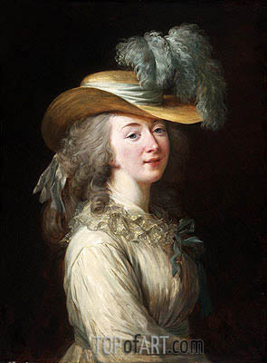 Portrait of Madame Du Barry, 1781 | Elisabeth-Louise Vigee Le Brun | Painting Reproduction