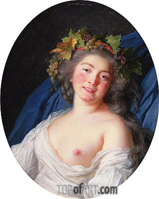 Bacchante, 1785 | Elisabeth-Louise Vigee Le Brun | Painting Reproduction