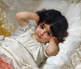 Portrait of Marie-Louise, 1880 by Emile Munier | Painting Reproduction